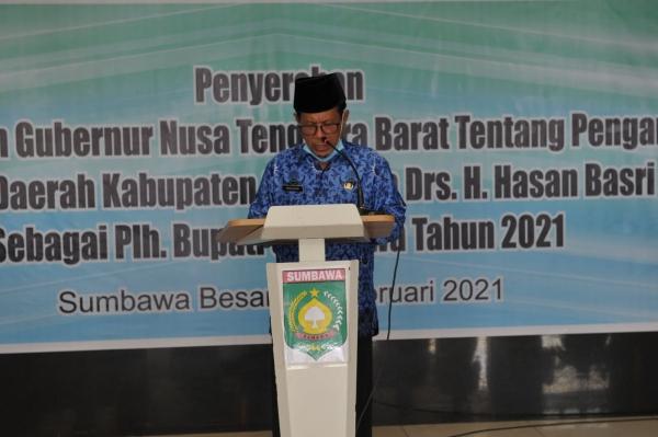 Sekda Sumbawa Hasan Basri ditunjuk sebagai Pelaksana Harian Bupati Sumbawa