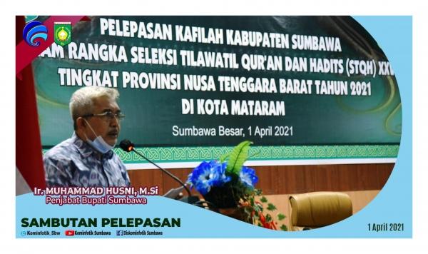 Penjabat Bupati Sumbawa Lepas Kafilah Sumbawa pada STQH XXVI Provinsi NTB Tahun 2021